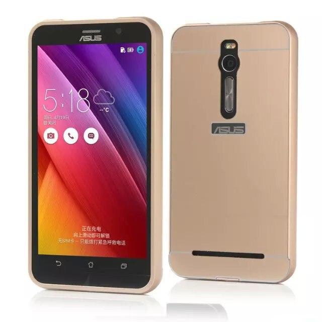 Case para asus zenfone 2 teléfono de metal de aluminio + acrílico accesorios de