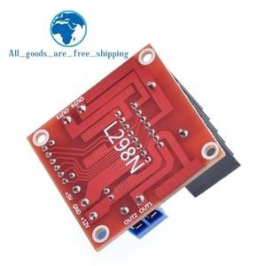 Image 5 - Tzt 10個新デュアルhブリッジdcステッピングモータドライブコントローラボードモジュールL298N arduinoのスマートカーロボット