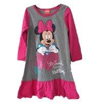 Retail Brand Girls Dresses Minnie Mouse Nightgown Kids Pajamas Nightgowns Sleepwear Princess Clothes Set 2 3