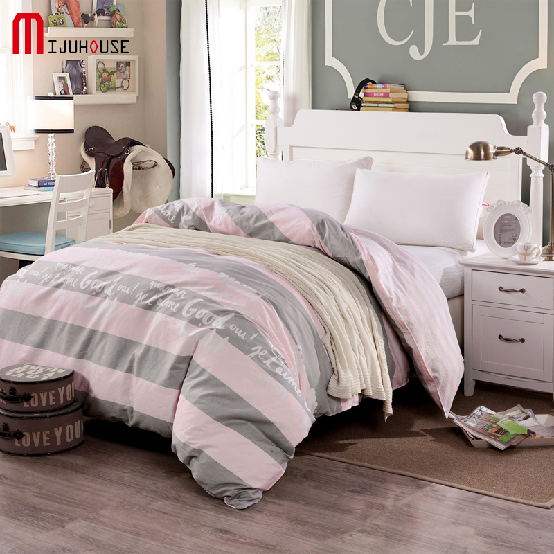 New 100% Cotton Duvet Cover Printed Colored Plaid Quilt Cover For <font><b>Bed</b></font> 220/240 Twin Full King Queen <font><b>Size</b></font> Brief Style Bedding Bag