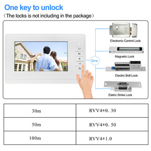 Image 4 - OBO ידיים 7 אינץ TFT צבע וידאו אינטרקום וידאו Doorphone פעמון Wired דלת Bell הפנימי מסך צג לבית דירות