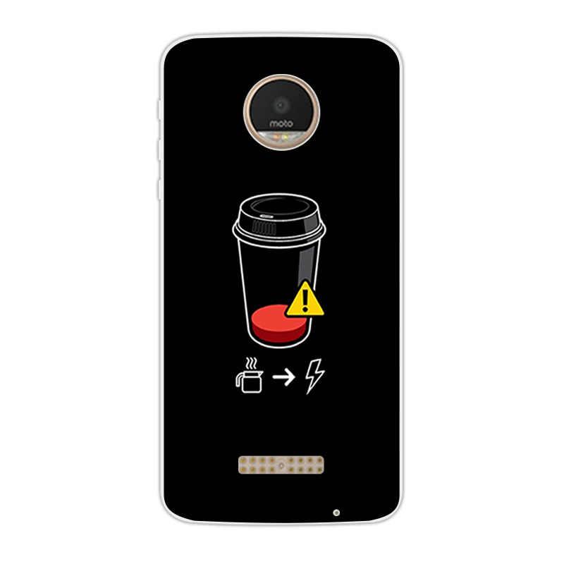 Для Motorola Moto Z Play END WOLF чехлы для телефонов 5,5 Дюймов прозрачный мягкий силикон для Moto X 4 XT 1635-03 XT1635 задняя крышка из ТПУ