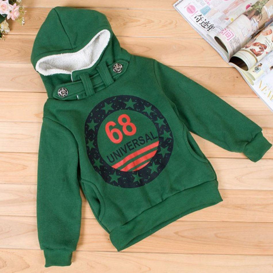 Children Boys Fleece Hoodie Jacket Coat (1)