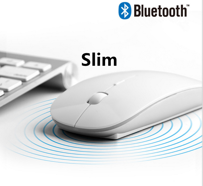 2019 New 4.0 Bluetooth 1800 DPI Wireless Mute Slim Mouse For Ipad Mac Andrews Laptop PC Tablets Mause Gift Mouse Factory