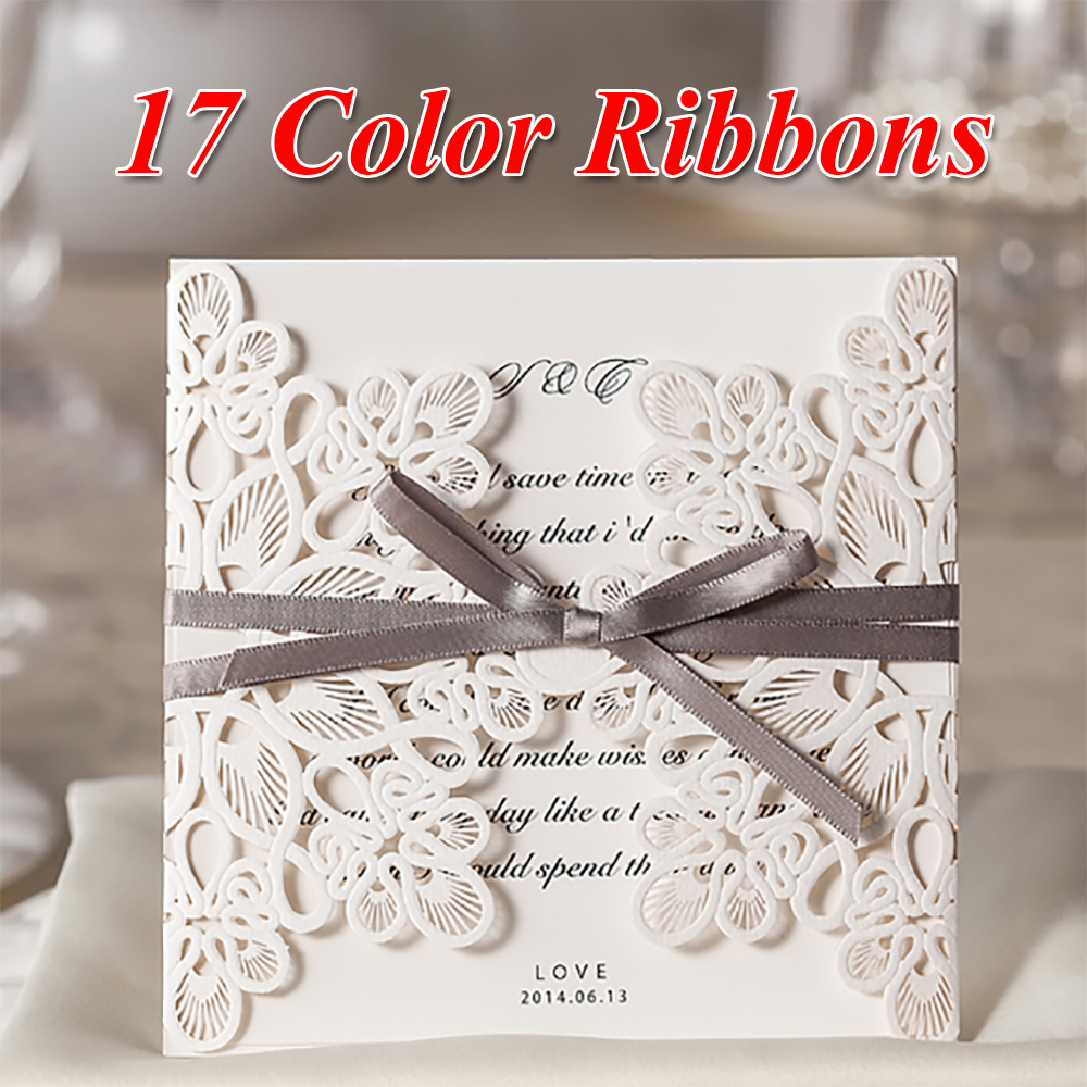 12Pcs DIY Ribbons Free Printable Engagement Party Invitations ...