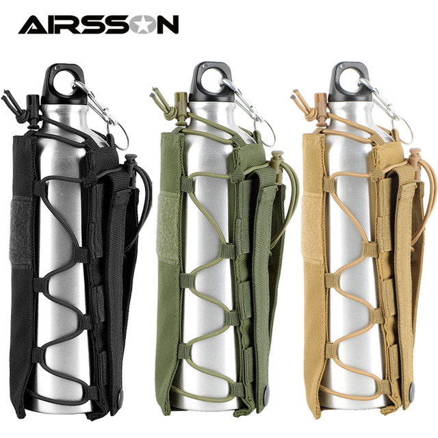 Tactical Water Bottle Pouch Outdoor Molle Military Water Bag Kettle Holder Accessory Bags Camping Hiking Travel Survival Kits 2