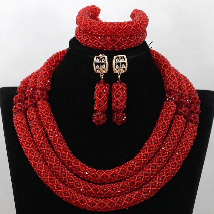 Amazing Red Beads African Statement Necklace Set Nigerian Wedding Costume Women Jewelry Set New Free Shipping WA588Amazing Red Beads African Statement Necklace Set Nigerian Wedding Costume Women Jewelry Set New Free Shipping WA588