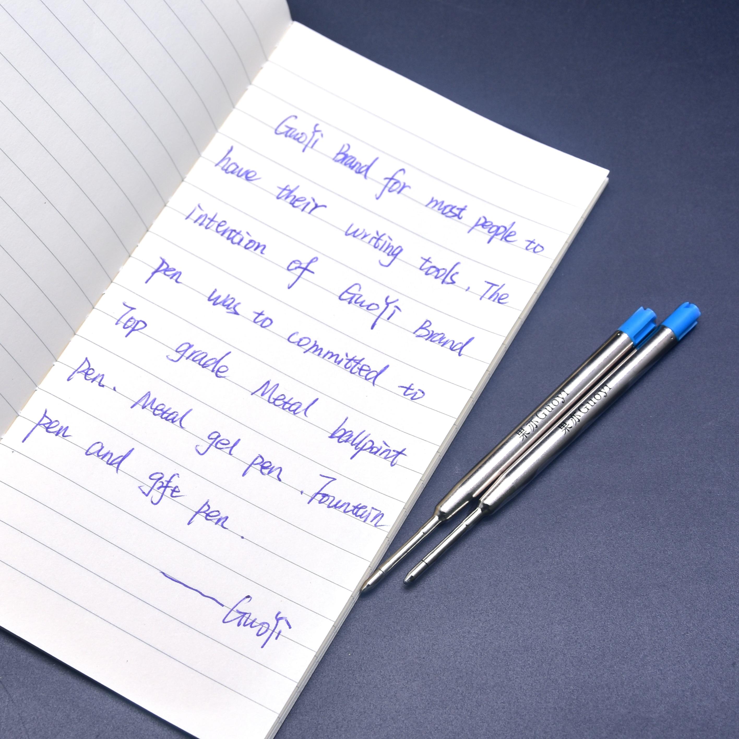 Guoyi K088 nouveau stylo à bille recharge 400 pc/Lot pour école bureau papeterie cadeau stylo hôtel entreprise écriture longueur 700m stylo-in Recharge pour stylo from Fournitures scolaires et de bureau    2