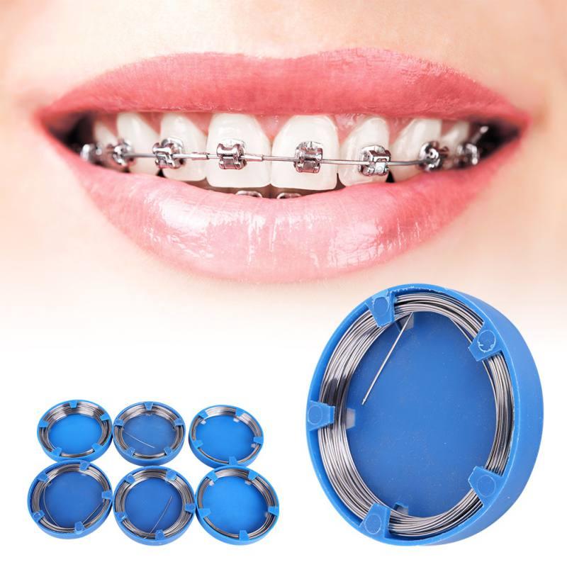 Ortodóntica Dental útil, alambre de acero inoxidable, aparatos de ortodoncia DIY, alambre de acero ortodóntico para dentista
