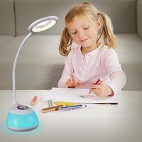 LED Reading Light Table Lamp Touch Sensor Eye Protection Kids Gift RGB Changeable Color Ring Children Dimmable Desk Valve
