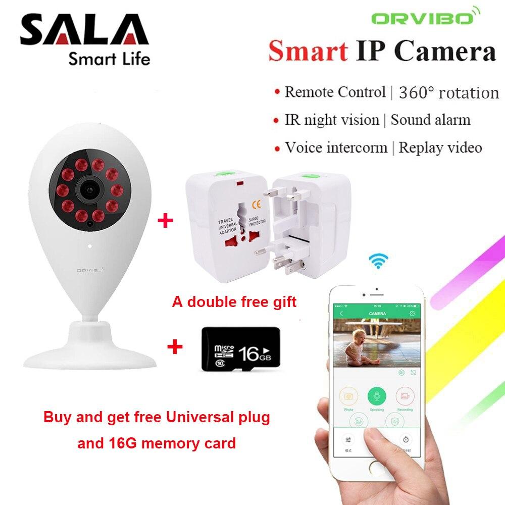ORVIBO WIFI IP Caméra de Sécurité HD 720 p Vision Nocturne Infrarouge Smart Domotique Contrôleur pour Google Smart Télécommande