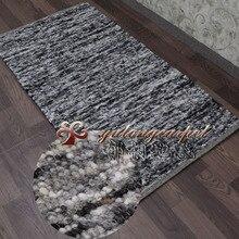 Eleomargaric шерстяной коврик джутовый ковер краткое заднее одеяло вход