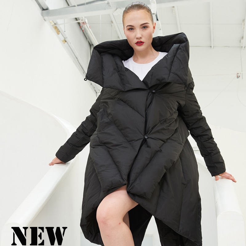 2018 NEW arrival winter and autumn women   down     coat   jackets long fashion