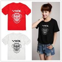 Kpop concert Vixx 2016 nieuwe aankomst korte mouw k-pop Vixx bts exo logo shirt zomer college groep katoen tops tees