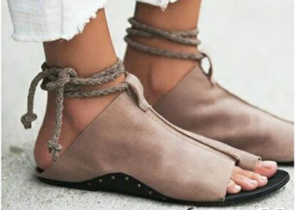 zapatos mujer summer sandals women flats ladies shoes woman ankle strap wedding chaussure femme 2018 lace up P170567 2
