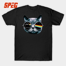 Cool Pink Floyd Cat Funny Design Rock Music Band T Shirt Men Short Sleeve 100 Cotton Tee Shirt Top Hard Metal Streetwear Clothes