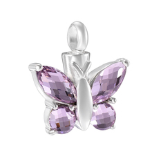"""Elegant Butterfly Urn Pendant Necklace for Ashes """"925 Sterling Silver Keepsake Cremation Jewelry for Women Men Pet Ashes Holder"""