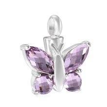 Элегантная бабочка урна кулон ожерелье для праха keepsake кремации