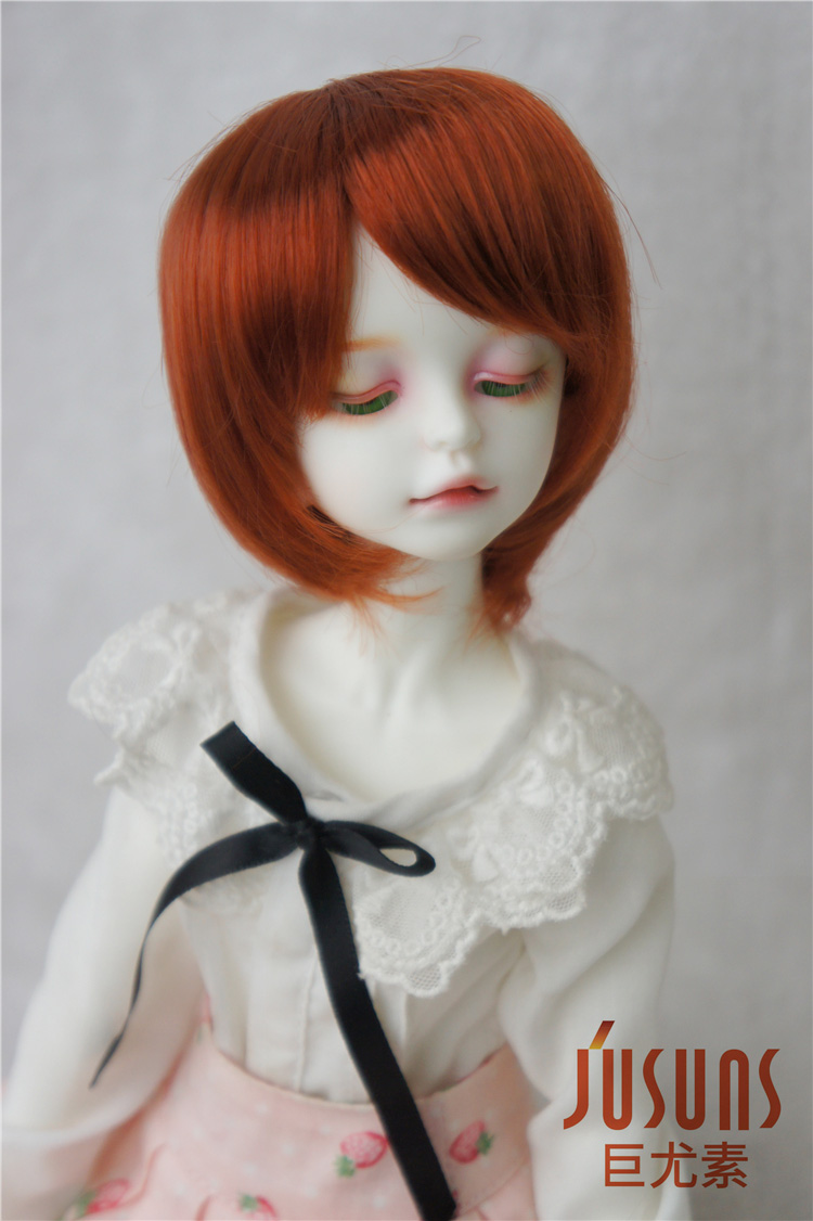 JD025 18-20CM 1/4 Short cut Doll wig with bangs, 7-8inch MSD synthetic mohair BJD wig doll accessories