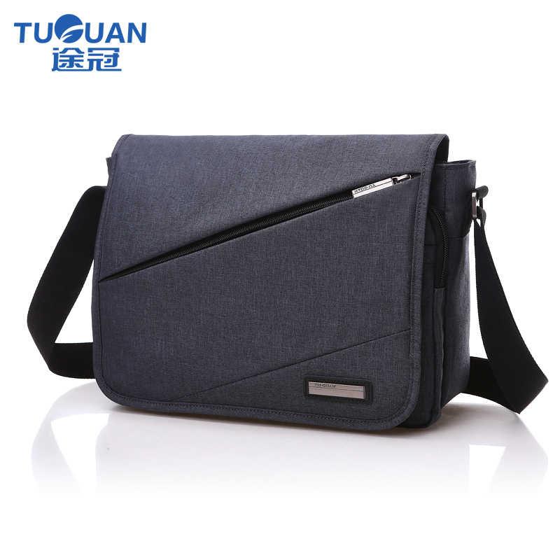 5d91b311775b TUGUAN мужская деловая сумка через плечо wo мужская сумка-мессенджер  школьная сумка непромокаемая модная мужская