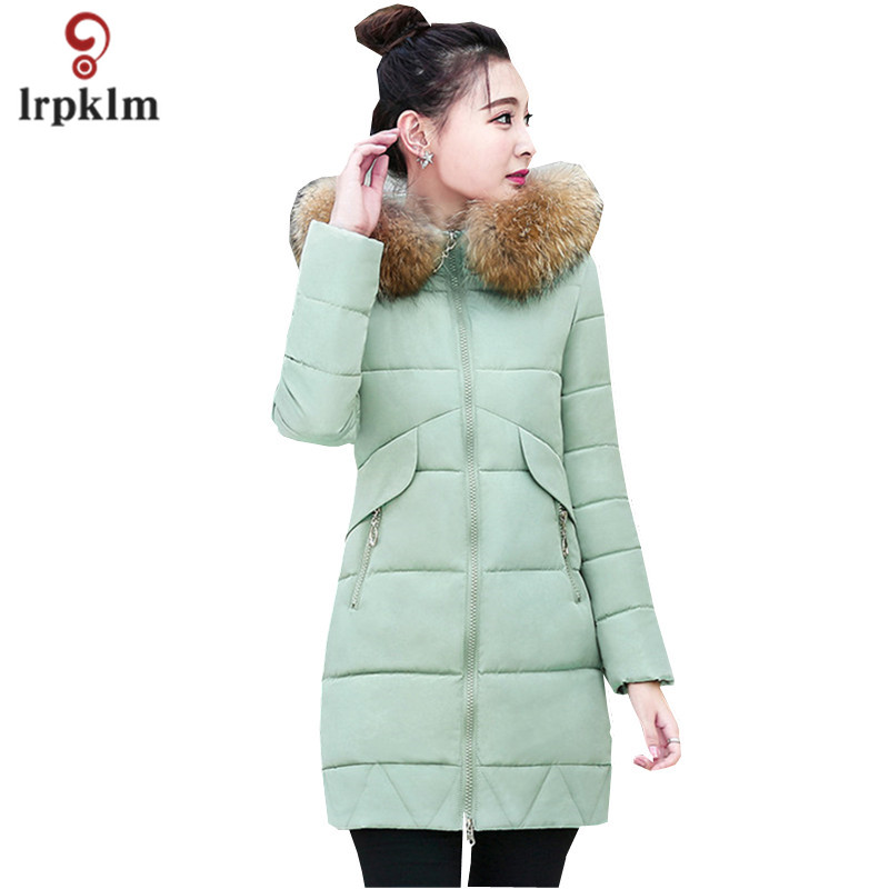 Women's Brand Large Size 3XLWinter Jacket Women 2017 New Big Hair Collar Slim Long Section Thick Red Black Women Parkas LZ465 бра reccagni angelo a 6208 1