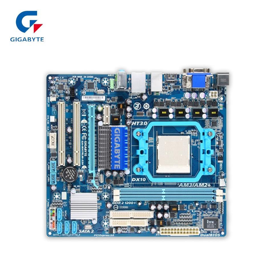 Gigabyte GA-MA78LM-S2H Original Used Desktop Motherboard 760G Socket AM2 DDR2 SATA2 USB2.0 Micro ATX original for ga ma78lm s2 desktop motherboard 940pin am2 am3 ddr2 100% tested
