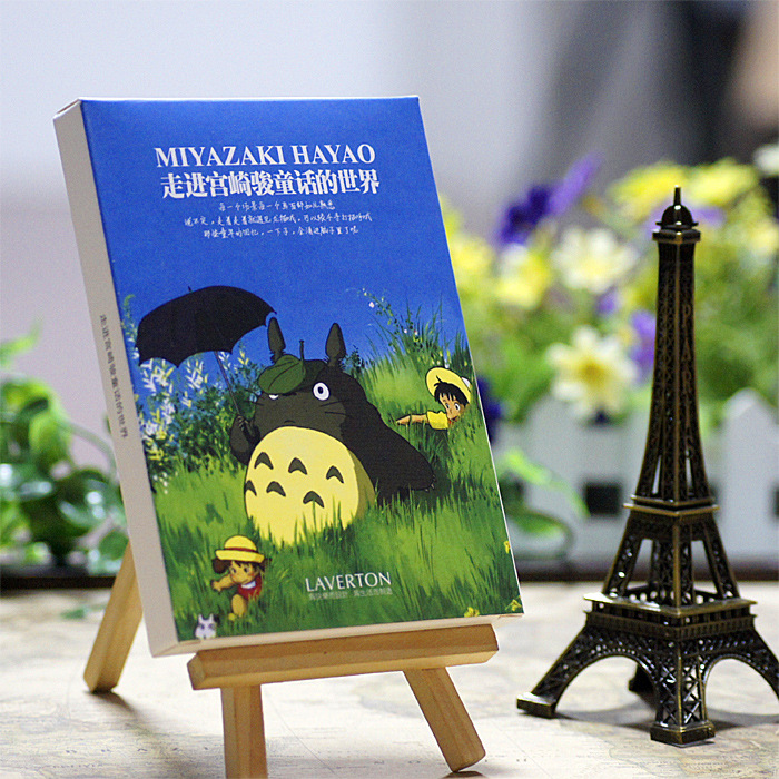 30sheets/LOT Hayao Miyazaki Oil Painting Postcard   Hayao Miyazaki Postcards/Greeting Card/wish Card/Fashion Gift 30pcs in one postcard owe you a song romantic love christmas postcards greeting birthday message cards 10 2x14 2cm