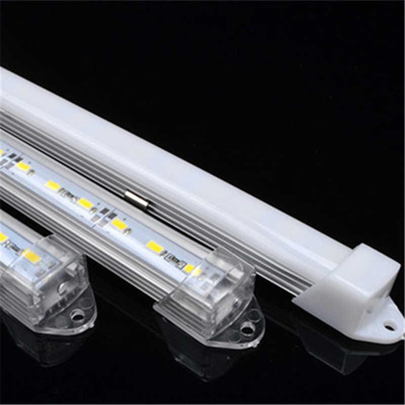 DHL 1 м светодиодный алюминиевый профиль для 5050 5730 светодиодный жесткий бар светодиодная подсветка алюминиевый корпус с крышкой Торцевая крышка