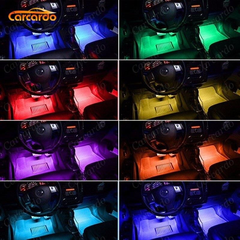 Carcardo 1 Set Voice Music Control LED Atmosfer Neon İşıq lampası - Avtomobil işıqları - Fotoqrafiya 5