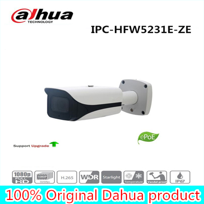Free Shipping DAHUA Security IP Camera 2MP WDR IR Bullet Network Camera with POE without Logo IPC-HFW5231E-ZE free shipping dahua cctv camera 4k 8mp wdr ir mini bullet network camera ip67 with poe without logo ipc hfw4831e se