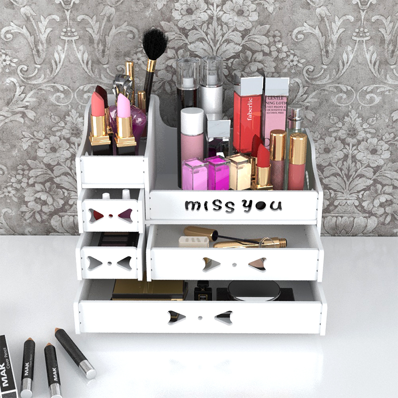 Plastic Makeup Storage Box For Women Cosmetic Storage Organizer Jewelry Boxes Bedroom Desktop Container Make Up Sundries Boxes in Storage Boxes Bins from Home Garden