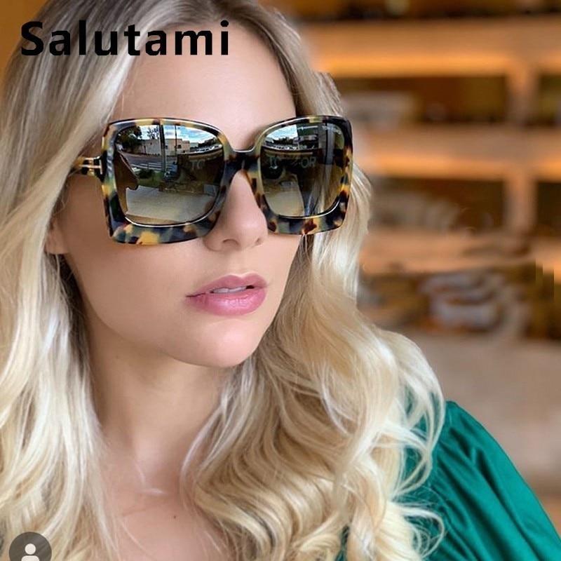 Oversize Letter Frame Square Sunglasses For Women Vinge Retro Sun Galsses Men Luxury Brand Black Big Shades 2019 INS Fashion
