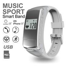 F50 2-в-1 Smart Watch & Bluetooth-гарнитура для Наушников, Smartband Наручные Шагомер Фитнес-Деятельность Трекер Монитор Сердечного ритма