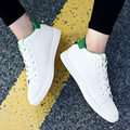 New Arrive Luxury Fashion Mens Solid Casual Shoes Lace Up High Cut Artificial Leather Flat High Quality Brand Young Shoe-A
