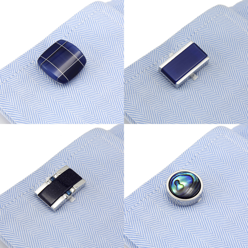 SPARTA cufflinks artificial cat's eye stone cufflinks gem cufflinks shell cufflinks men's Cuff Links + Free Shipping !!! DM