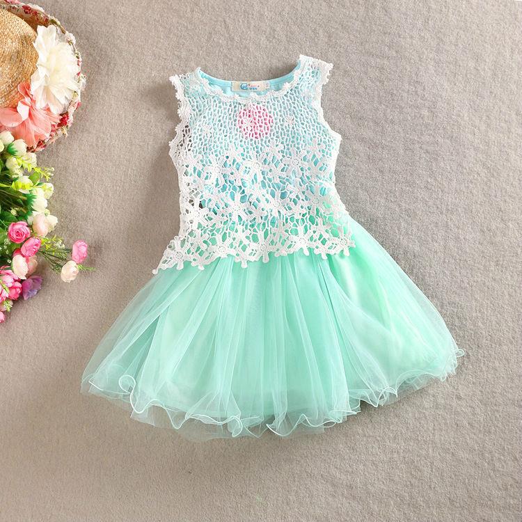 Aliexpress Buy Baby Girls Summer Sling Lace Dress Kids Cotton