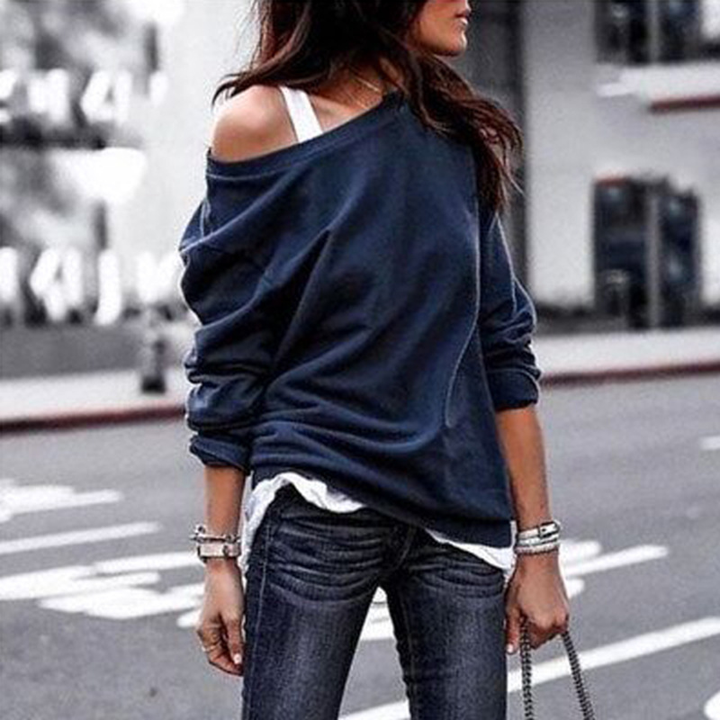 New Autumn Long Sleeve O-neck Hoodies Women 2019 Loose Casual Solid Sweatshirt Plus Size 3xl Womens Tops Streetwear Clothes