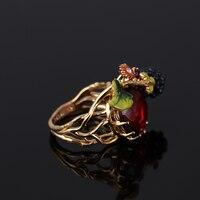France Les Nereides Black Berry Gem Ring For Women Romantic Elegant Blue Gem Brand Rings