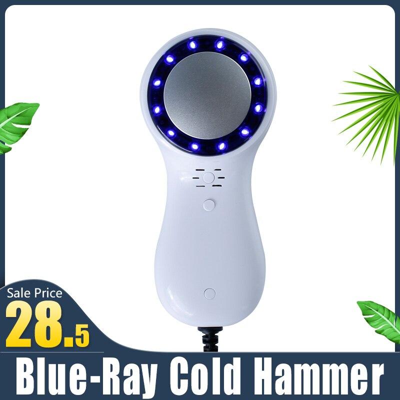 Machine de beauté Blue-ray marteau froid cryothérapie glace guérison peau du visage levage resserrement rétrécissement Pores Anti-âge Massage du visage