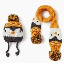 Winter Cotton hat scarf set Fox Baby Hat Knit Soft Baby Boy Cap Bonnet Baby Girl Hats Beanie Children Kids Hat Newborn Baby Cap