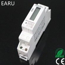 1 шт. 5(32) 220 В 50 Гц одна фаза полюс din-рейка кВтч Ватт час din-рейку мини цифровой измеритель энергии с ЖК-дисплеем модуль