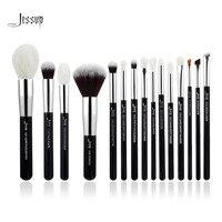 Jessup Brand Black Silver Professional Makeup Brushes Set Make Up Brush Tools Kit Foundation Powder Natural