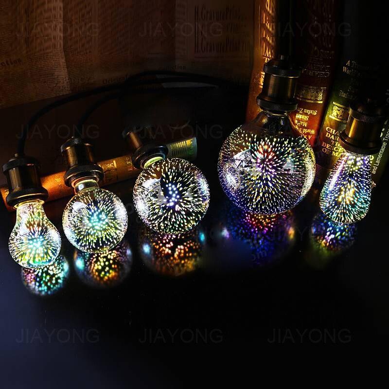 Vintage Edison Bulbs E27 5W AC 85-265V LED Warm White 3D Decorative Edison Light Bulbs Holiday Party Lamp Living Room Bedroom