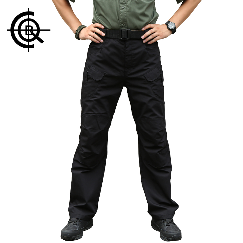 CQB Outdoor Pants Men Tactical Hiking Fishing Multi-pockets Overalls Camping Pants Big Size Male Men Travel Trousers CKZ0133