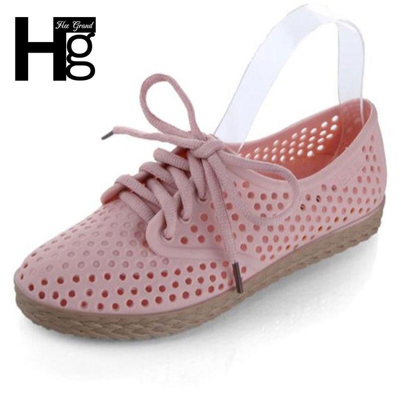Hee grand mujeres pisos nueva summer style solid salidas cortadas zapatos de muj