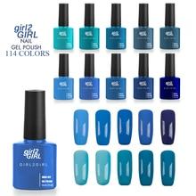 girl2GIRL Gel Varnish 8ml 114 Solid Pure Colors Soak Off Nail gel UV LED Lamp Art Salon High Quality Painting Gel Nail Polishes