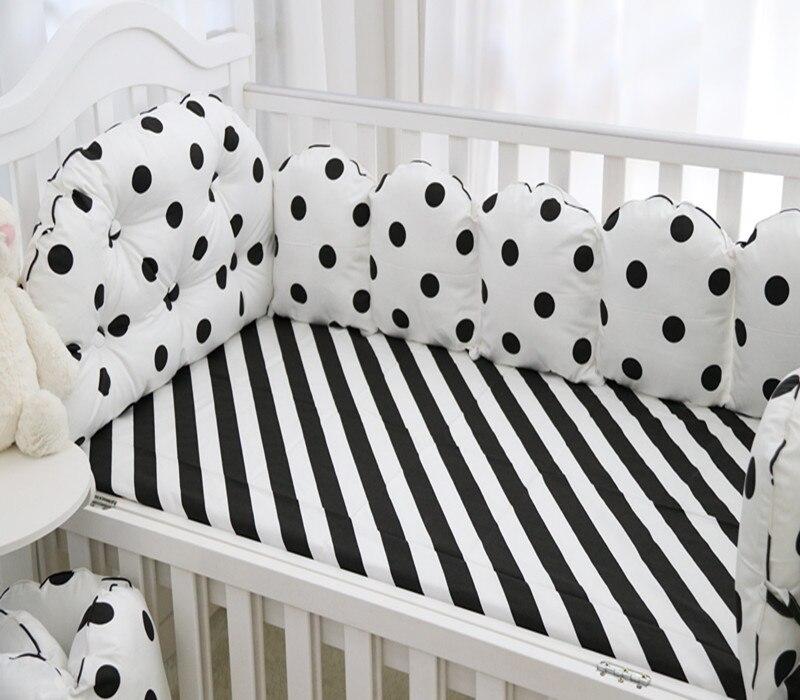 5 шт./компл. Пеленальные принадлежности Наборы для ухода за кожей бампер Дышащий моющийся хлопок печатных детские кроватки бампер кровать 120