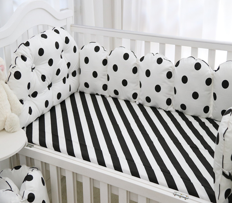 5Pcs/Set Baby Bedding Sets Bumper Breathable Washable Cotton Printed Crib Baby Bumper Bed 120*60 Around Bed Sheet Baby Bedding