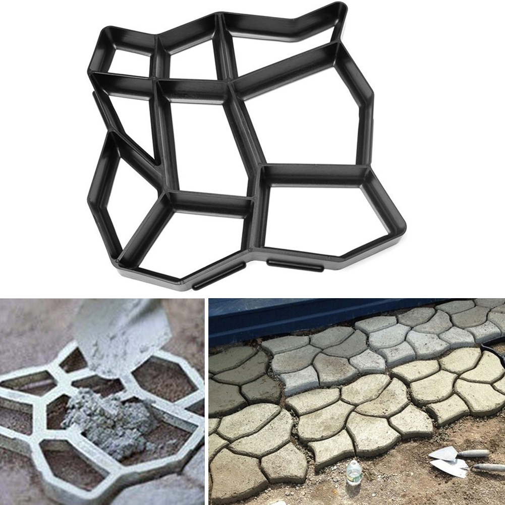 DIY Plastic Path Maker Mold Manually Paving/Cement Brick Molds The Stone Road Auxiliary Tools For Garden Decor 43.5*43.5cm