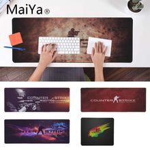 Maiya дизайн cs go прочный резиновый коврик для мыши игровой коврик для мыши xxl настольный ноутбук коврик для мыши геймер для dota2 lol